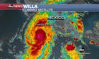 Hurricane Willa strengthens in Pacific Ocean