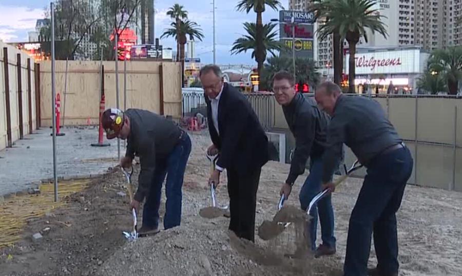 Groundbreaking for new Las Vegas Strip pedestrian bridge