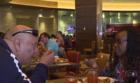 Veterans bond over free buffet at M Resort