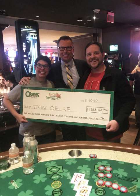 Wisconsin man wins $1.3 million at O'Sheas on Las Vegas Strip