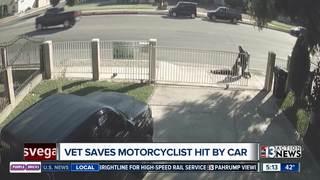 VIDEO: Los Angeles veteran helps motorcyclist